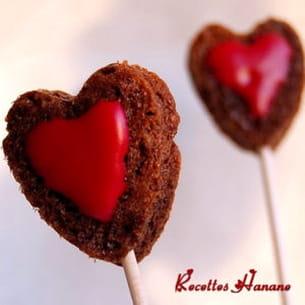 cœurs en sucettes pour la saint-valentin