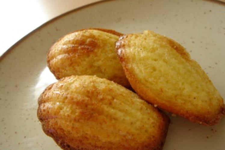 Madeleines au citron et miel