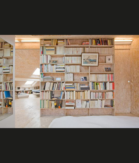 Une grande bibliothèque