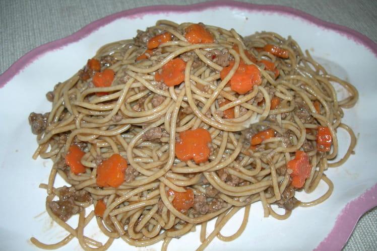 Spaghettis au boeuf