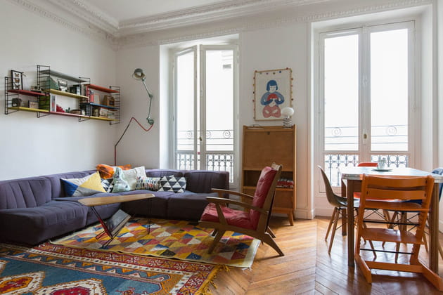 Un salon vintage