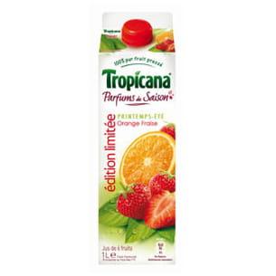jus orange-fraise 'parfum de saison' de tropicana