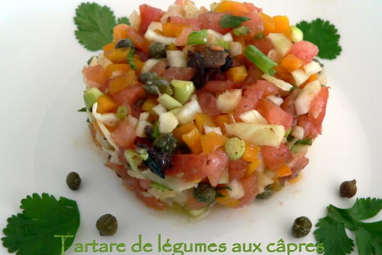Tartare de légumes aux câpres