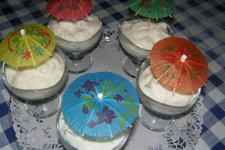 Mousse au fromage blanc et aux kiwis (basses calories)