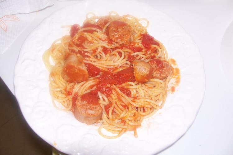 Spaghettis à la saucisse de Toulouse