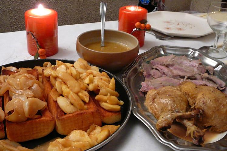 Salmis de canard aux pommes et aux poires