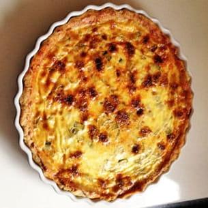 tarte moelleuse aux courgettes et au chorizo