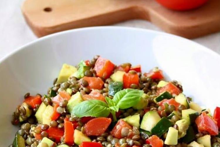 Salade de lentilles aux légumes : la meilleure recette