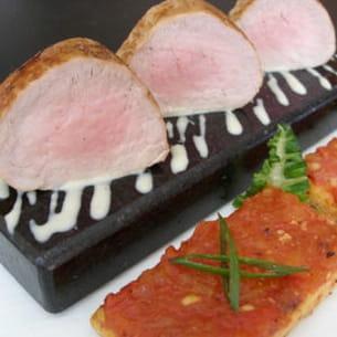 mignon de porc, pain perdu