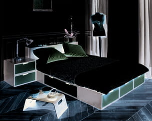 lit podium brick d 39 espace loggia. Black Bedroom Furniture Sets. Home Design Ideas