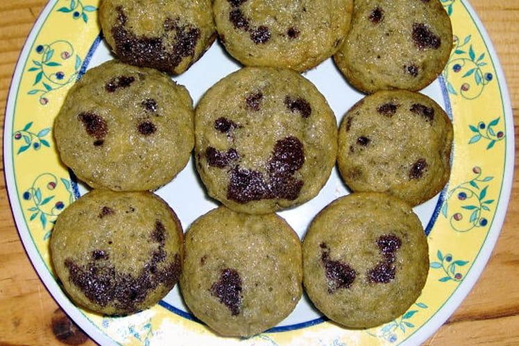 Muffins fourrés banane-chocolat