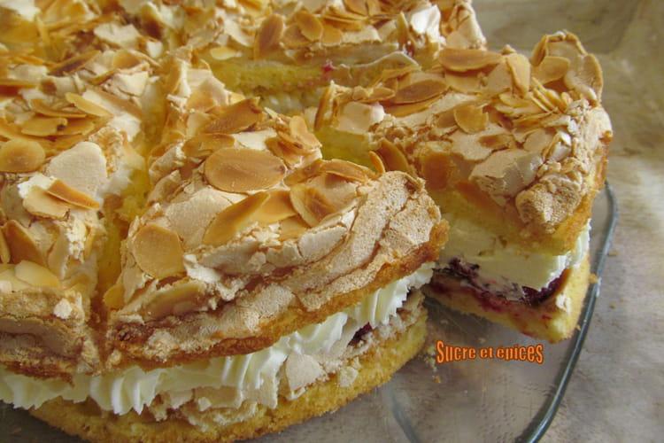 Gâteau allemand Himmelstorte aux framboises