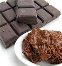 changement de texture entre la tablette de chocolat et la mousse.