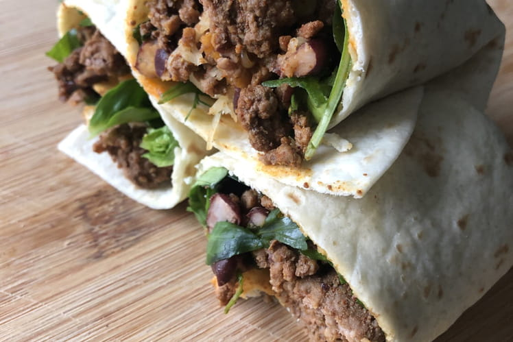 Burrito healthy et express bœuf-haricots rouges