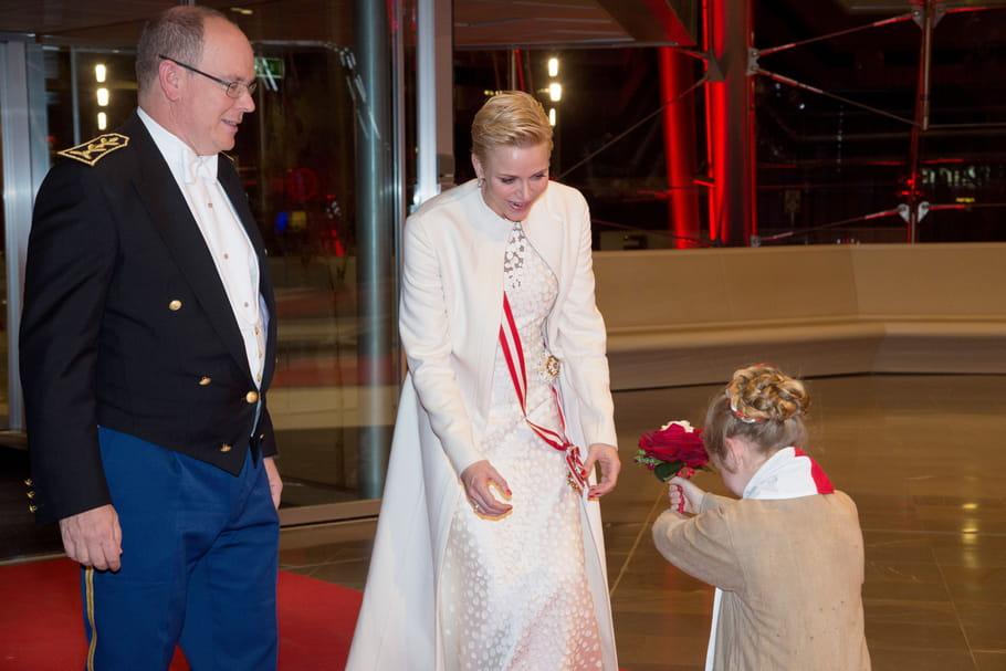 Charlène de Monaco et Albert II lors du concert du gala de clôture