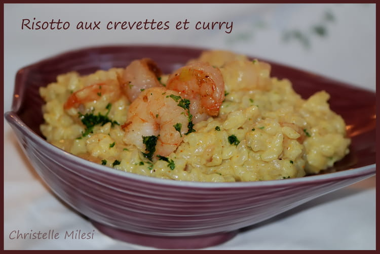 risotto aux crevettes et curry. Black Bedroom Furniture Sets. Home Design Ideas