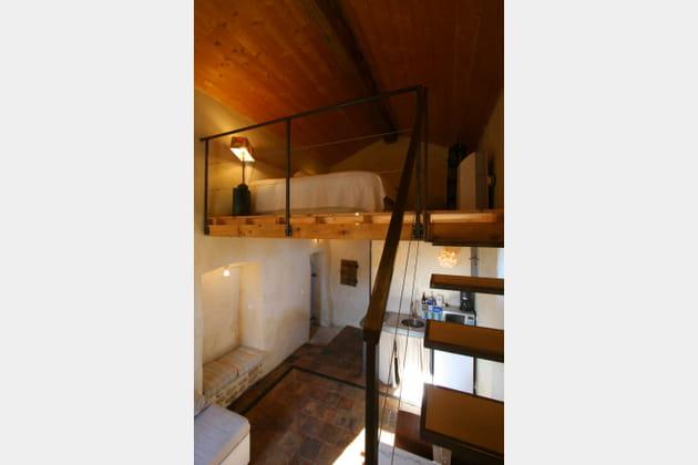 Une mezzanine rustique