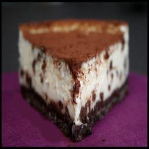 cheesecake vanille croûte biscuitée chocolatée