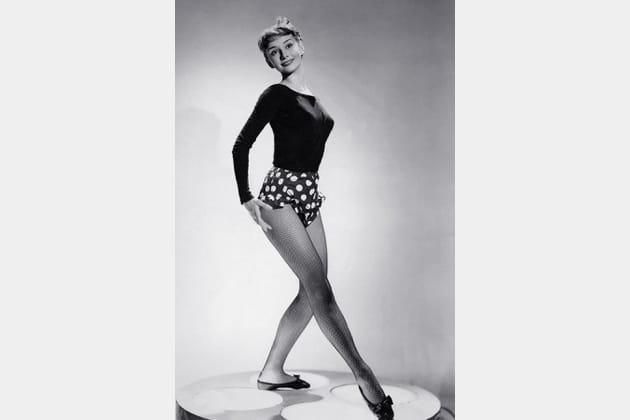 Audrey Hepburn en culotte à pois