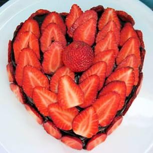 cœur choco-fraises