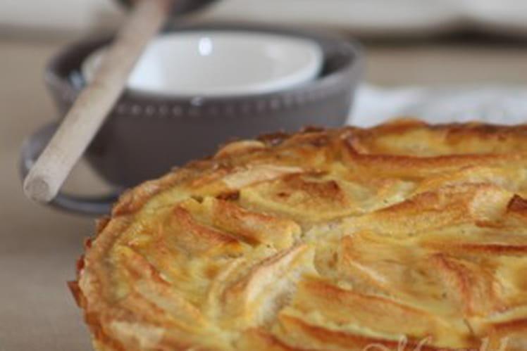 Recette de tarte normande vanill e aux pommes la recette - Recette tarte au pomme normande ...