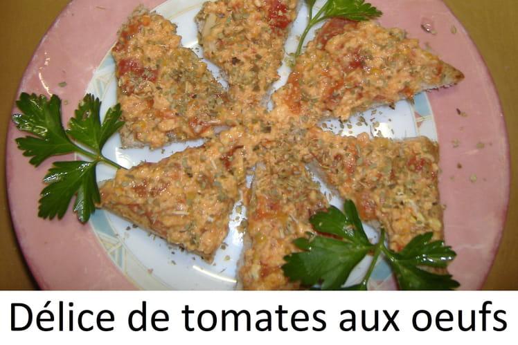 Délice de tomates aux oeufs