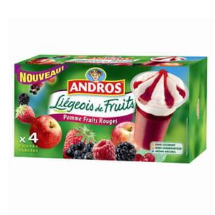 liégeois de fruits glacés d'andros