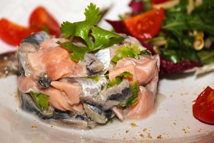Tartare de sardines et saumon