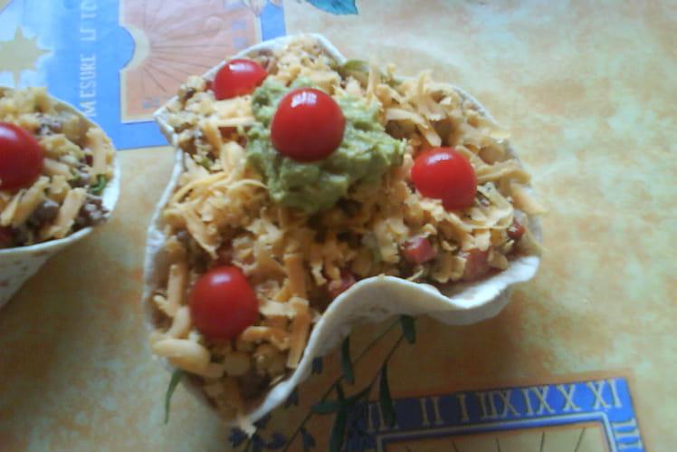 Salade mexicaine au bœuf et guacamole