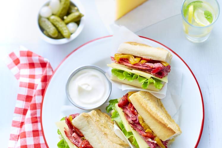 Mini sandwich au pastrami et Appenzeller