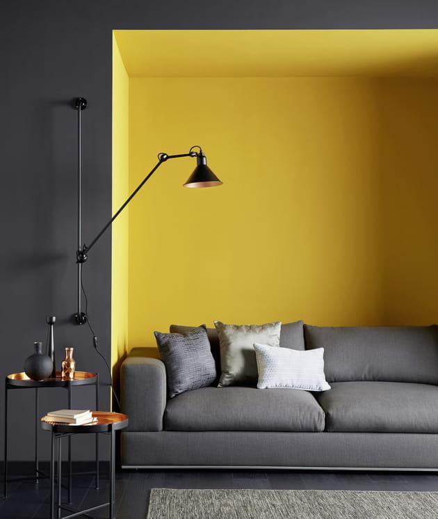 peinture divali charbon et curry par saint maclou. Black Bedroom Furniture Sets. Home Design Ideas