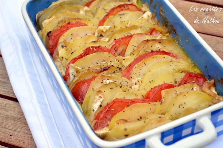 Tian de légumes au camembert