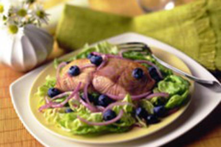 Salade de saumon aux myrtilles