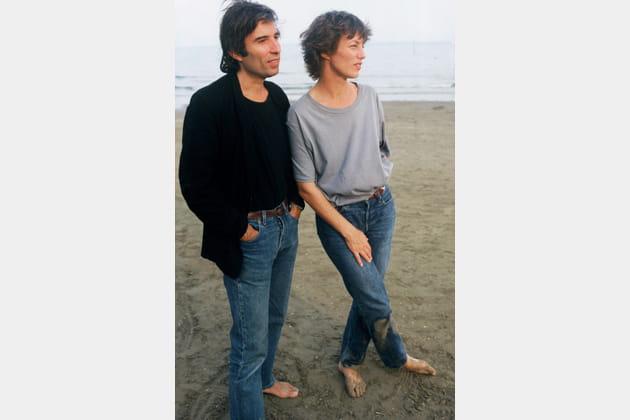 Jane Birkin et Jacques Doillon à Venise, en 1987