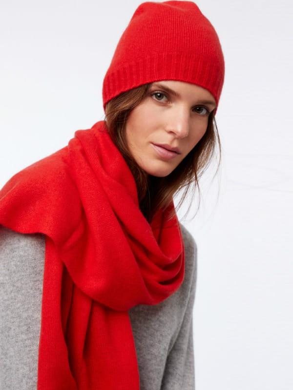 prix acheter pas cher large choix de designs Echarpe rouge en cachemire de Etam