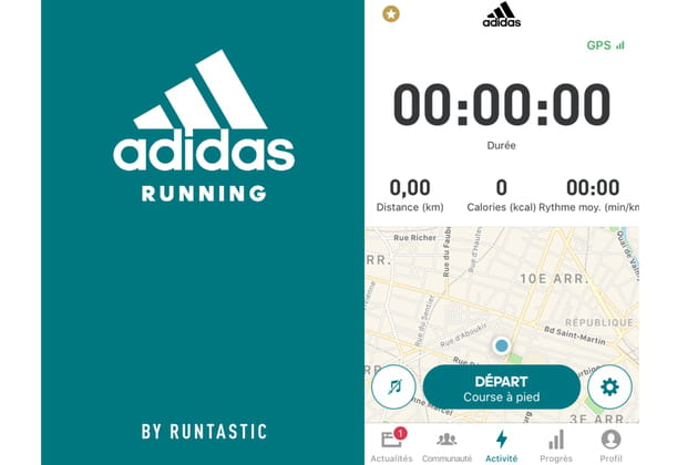 Application Adidas Running By Runtastic