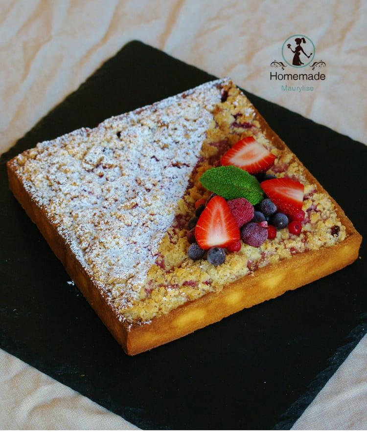 recette de tarte fruits rouges crumble la recette facile. Black Bedroom Furniture Sets. Home Design Ideas