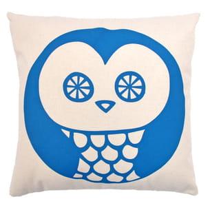 coussin owl bleu de my little square