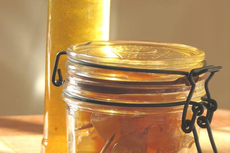 Pamplemousse confit au miel et fleurs d'oranger