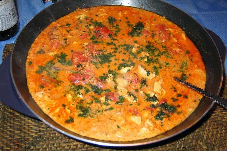 Poulet au curry et lait de coco - Poulet au curry lait de coco ...