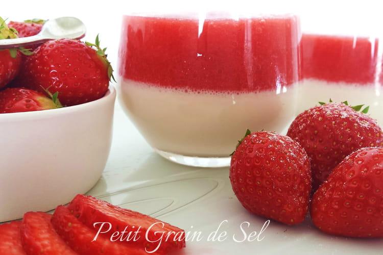 Pana cotta fraises et amande