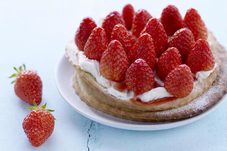 Tartelettes fines aux fraises, mascarpone vanille