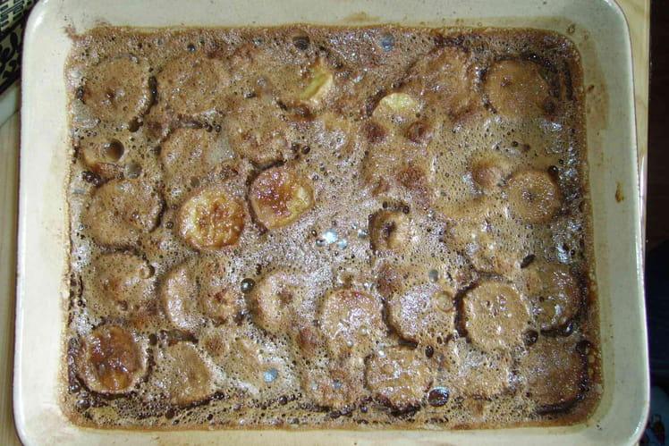 Clafoutis aux bananes et au chocolat