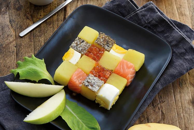 Salade Gwennie au saumon, œufs et aneth