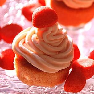 cupcakes à la fraise tagada
