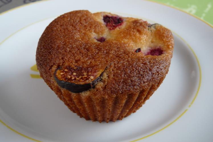 Muffins aux framboises et figues