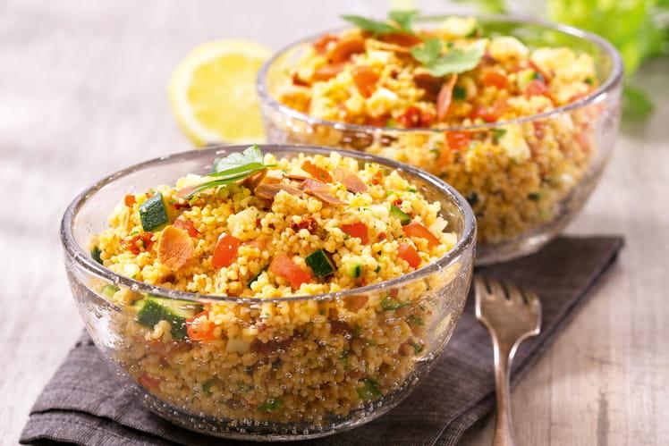 Taboulé de couscous du soleil Tipiak aux courgettes et amandes grillées