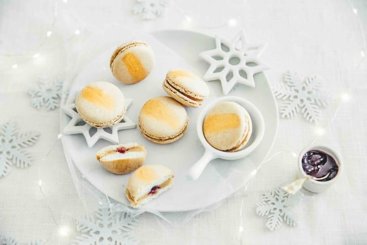 Macarons au foie gras et aux cerises