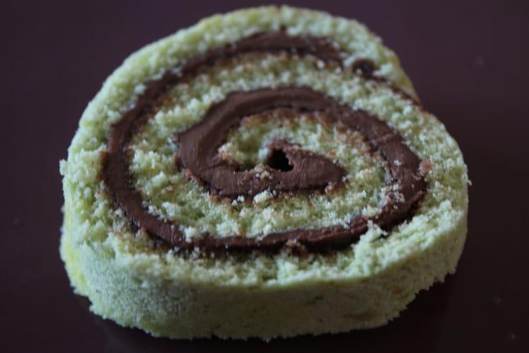 Gâteau roulé pistache Nutella
