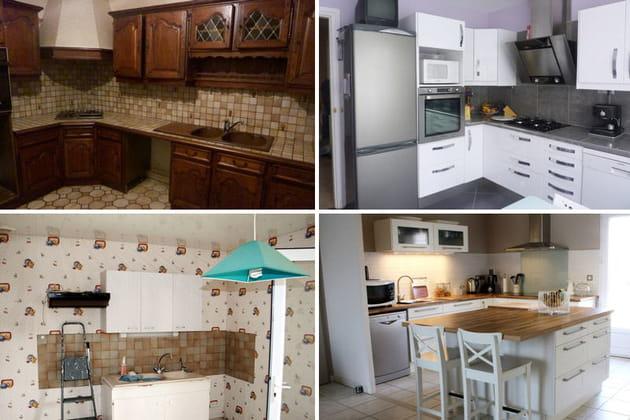 Relooking intégral de cuisines : avant-après